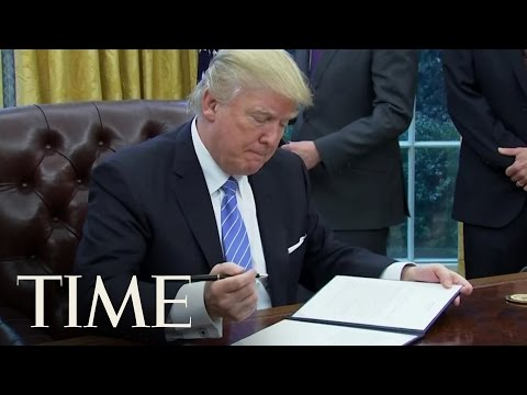 watch Donald Trump Just Took His First Steps on 'America First' | TIME