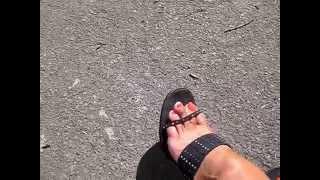 mature feet in mules pov