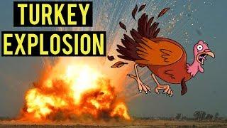 Turkey Explosion   Being Thankful on Thanksgiving