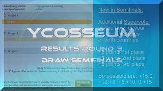 YCosseum: Results Round 3 + Draw Semifinals
