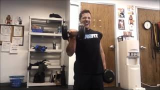 Fitness Model Arm Workout- Micah LaCerte