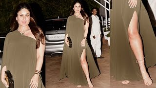 Pregnant Kareena Kapoor Flaunts Sexy Thighs In A Thigh High Slit Dress