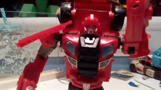 Transformers ironhide trailer stop motion