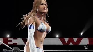 WWE 2K16 WEW Barefoot Wrestling Match Akane Smith vs The Corre