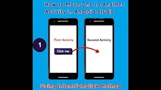 how to move one to another activity in android|How to move one screen to another in android studio#1
