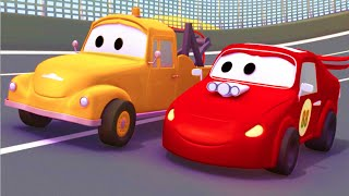 Tom The Tow Truck and the Racing Car in Car City |Trucks cartoon for children 🏎️🚚