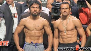 Manny Pacquiao vs. Juan Manuel Marquez 4: Full weigh in (HD)