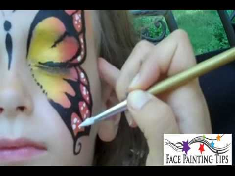 Butterfly Face Painting Design Tutorial