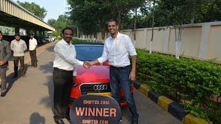 Win Your Dream Car - Audi A3 Cabriolet - Winner SC982 India
