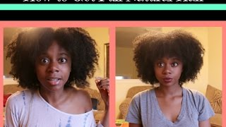 How to Make Natural Hair Full and Fluffy!