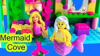 Mermaid Barbie Underwater Cove Home Playset Mini Doll Mega Bloks Lego Toy Opening