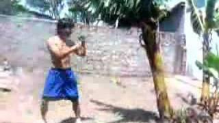 MUAY THAI primitive training.