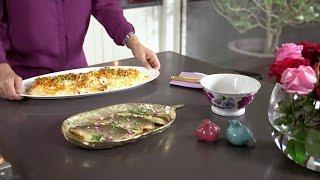 Ariana's Persian Kitchen -  Jewelled rice with fish /آشپزخانه ایرانی آریانا – مرصع پلو با ماهی