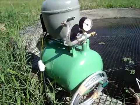 Motor de geladeira puxando água;Ivcagropecuária.
