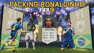 PACKING RONALDINHO (ICON) & PLAYING WITH HIM - FIFA 18 ULTIMATE TEAM!