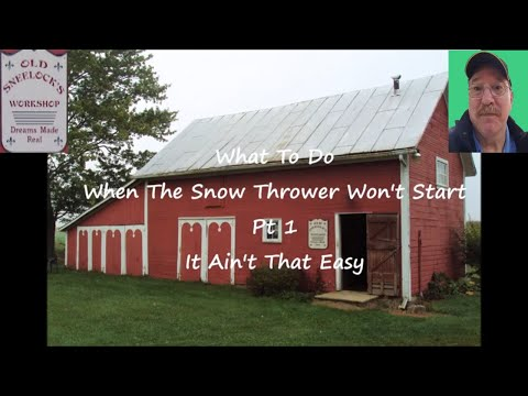 What To Do When The Snow Blower Won't Start ~ Find The Spark Plug ~ by Old Sneelock's Workshop
