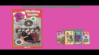 Barney: Waiting for Santa 1991 VHS Opening & Closing