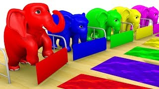 Learn Color Elephant Shed Surprise Animal W Cartoon Nursery Rhymes for Children Rhymes Tv