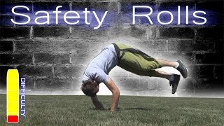 PARKOUR SAFETY ROLLS Tutorial - Forward Roll, Side Roll, Back Roll