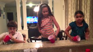 Awesomest Kids doing the cup song!