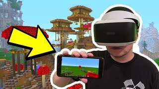 FIRST TIME Playing Minecraft Pocket Edition in VIRTUAL REALITY!! // Minecraft PE VR