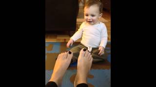 Baby Caleb Loves Feet