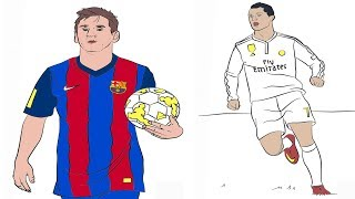 How to Color - Lionel Messi and Cristiano Ronaldo Coloring Pages