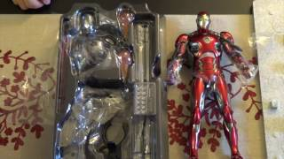 unboxing hot toys mark 45 & ultron prime,ant man,mark 40 XL, and iron legion figure.