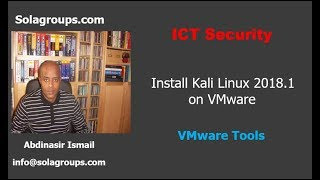 Install Kali Linux 2018.1 and VMware Tools