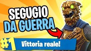 VITTORIA REALE con SEGUGIO DA GUERRA su FORTNITE (Skin Leggendaria)