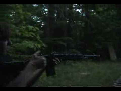 M14 Sniper, G3 Full Auto, Crosman Shotgun in action