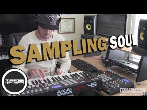 70s Soul Sample Hip Hop Beat Making Video w/ Akai MPD32 + MPK49 -