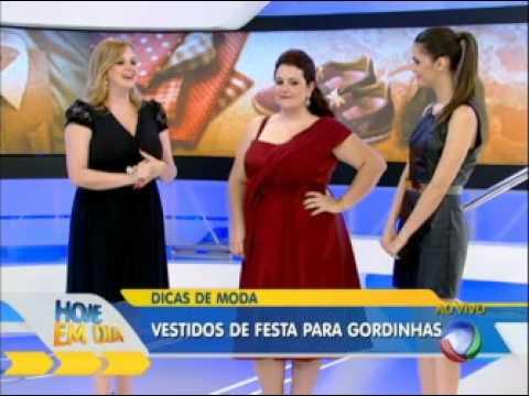 Vestidos de festa plus size Renata Poskus Vaz Hoje em Dia Rede Record