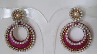 How to make Silk Thread Chandbali earrings