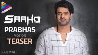 Prabhas New Look Teaser | Saaho Motion Poster | Shraddha Kapoor | Telugu Filmnagar | Fan Made