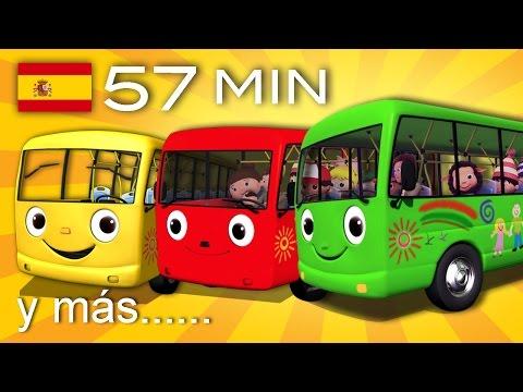 Las ruedas del autobús Y muchas más canciones infantiles ¡57 min de LittleBabyBum