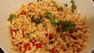 Spicy Puffed Rice(Jhaal muri) quick snack in 2 mins