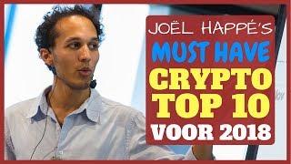 Joel Happe zijn Top 10 Crypto munten voor 2018
