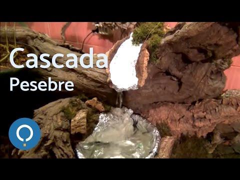 Cómo hacer una cascada real con salto de agua para el pesebre