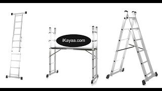 iKayaa 4 in 1 DIY Multi Purpose Step Ladder Scaffold