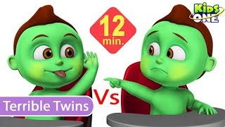 Greeny Kiddo TERRIBLE TWINS   Twins Day Care Funny Episode for Parents & Kids - KidsOne