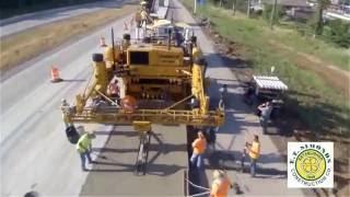 شاهد كيف يتم بناء الطرق في امريكا