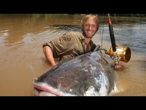 Giant catfish Mekong River ThaiLand FISH MONSTER HUNTING
