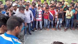 Indian street dance performing college boys