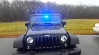 2016 Jeep Wrangler Emergency Lights (Firefighter/EMT POV)