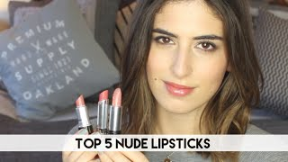 Top 5 Nude Lipsticks // Lily Pebbles