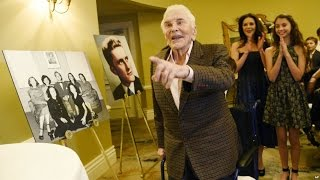 Actor Kirk Douglas Celebrates 100 with Family, Friends