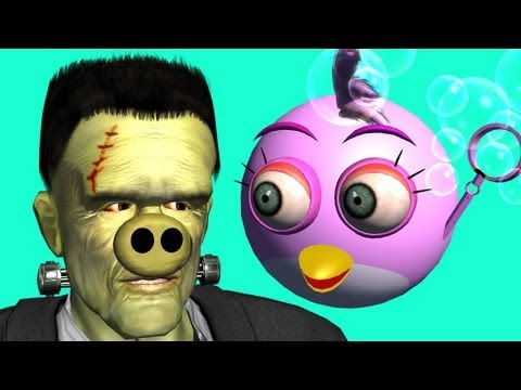 FRANKENSTEIN meets the Angry Birds ♫ 3D animated game mashup ☺ FunVideoTV Style ;