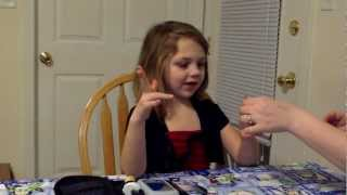 Six Year Old Girl with Type 1 Diabetes Changes Her Omni-Pod Insusion Pod