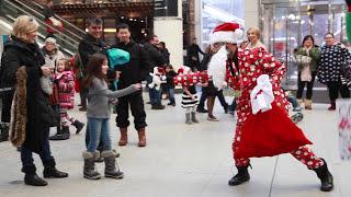 Santa From The Hood Gets Toronto DANCING!